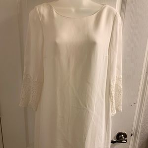 French Connection white crepe tunic dress.